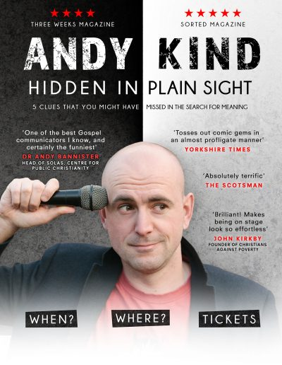 Andy Kind - Hidden in Plain Sight Tour Poster