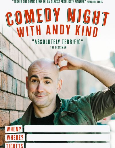 Andy Kind Comedy Night Poster
